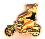 Pig on Motorcycle pin