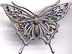 Butterfly with Crystals pin