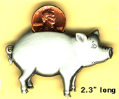 Piggy Bank pin, Real penny 