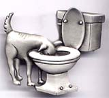 Dog in Toilet pin