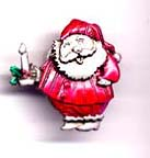 Santa with Candle pin